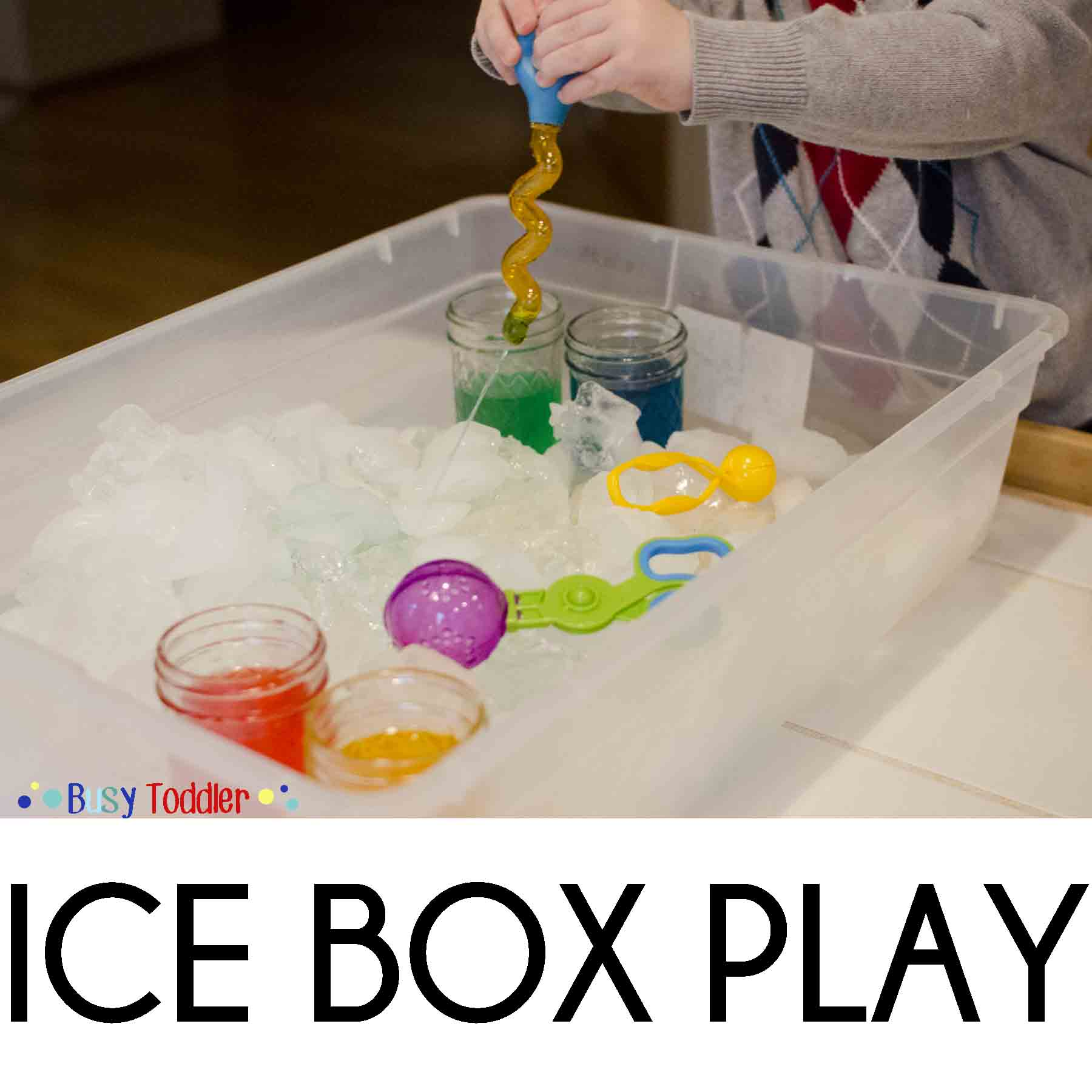 Ice Box Chilly Fine Motor Skills Play Busy Toddler