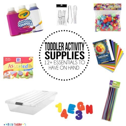 ACTIVITY SUPPLIES TO HAVE ON HAND: The essential activity supplies that you should have..