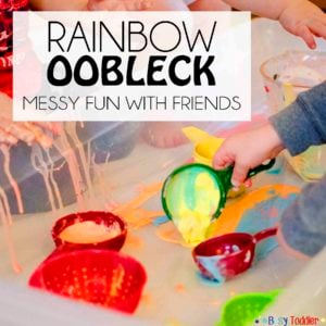 Rainbow Oolbeck: a messy sensory activity to play with friends