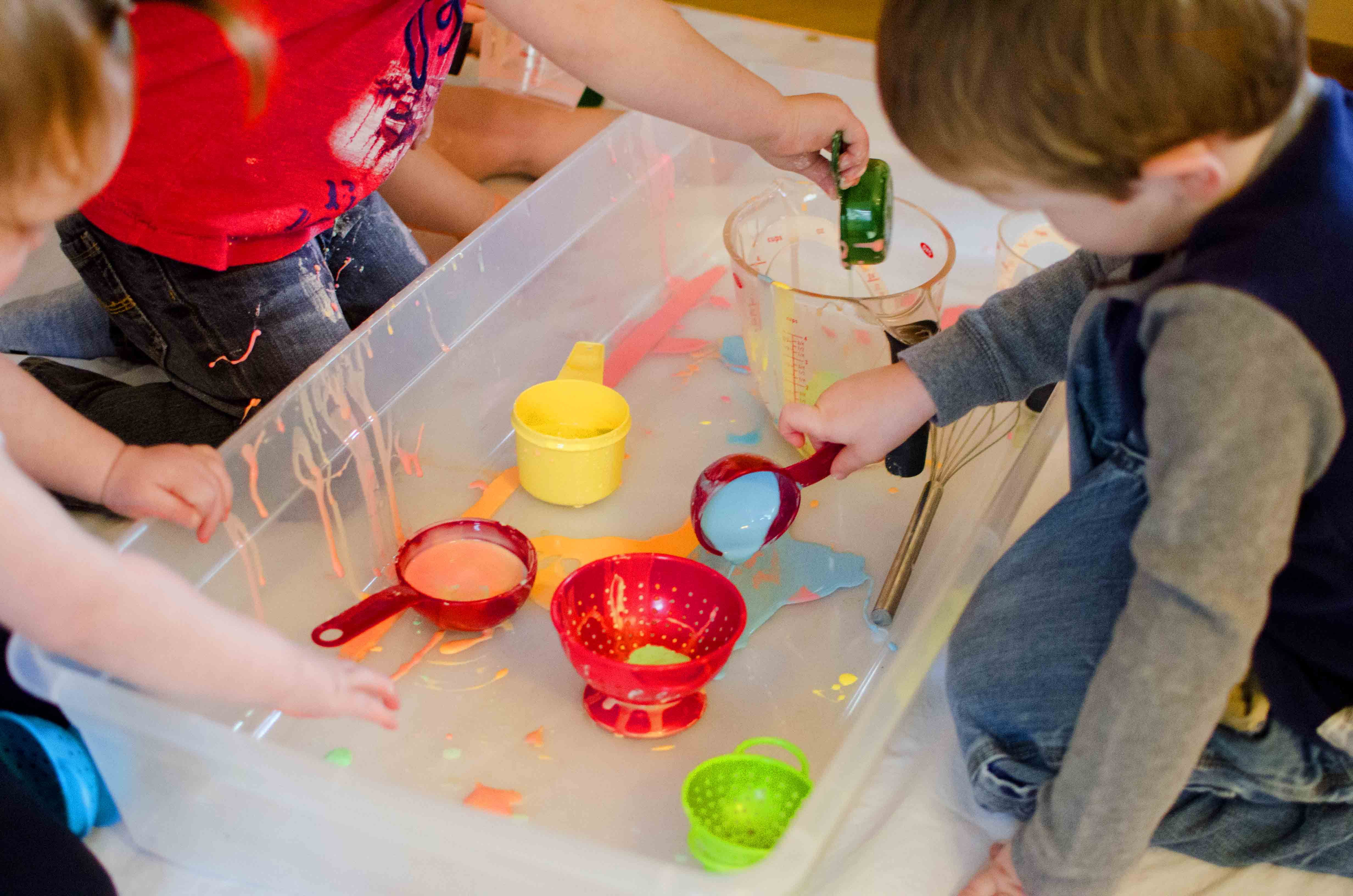 Rainbow Oobleck Busy Toddler