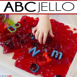 ABC Jello Sensory Play