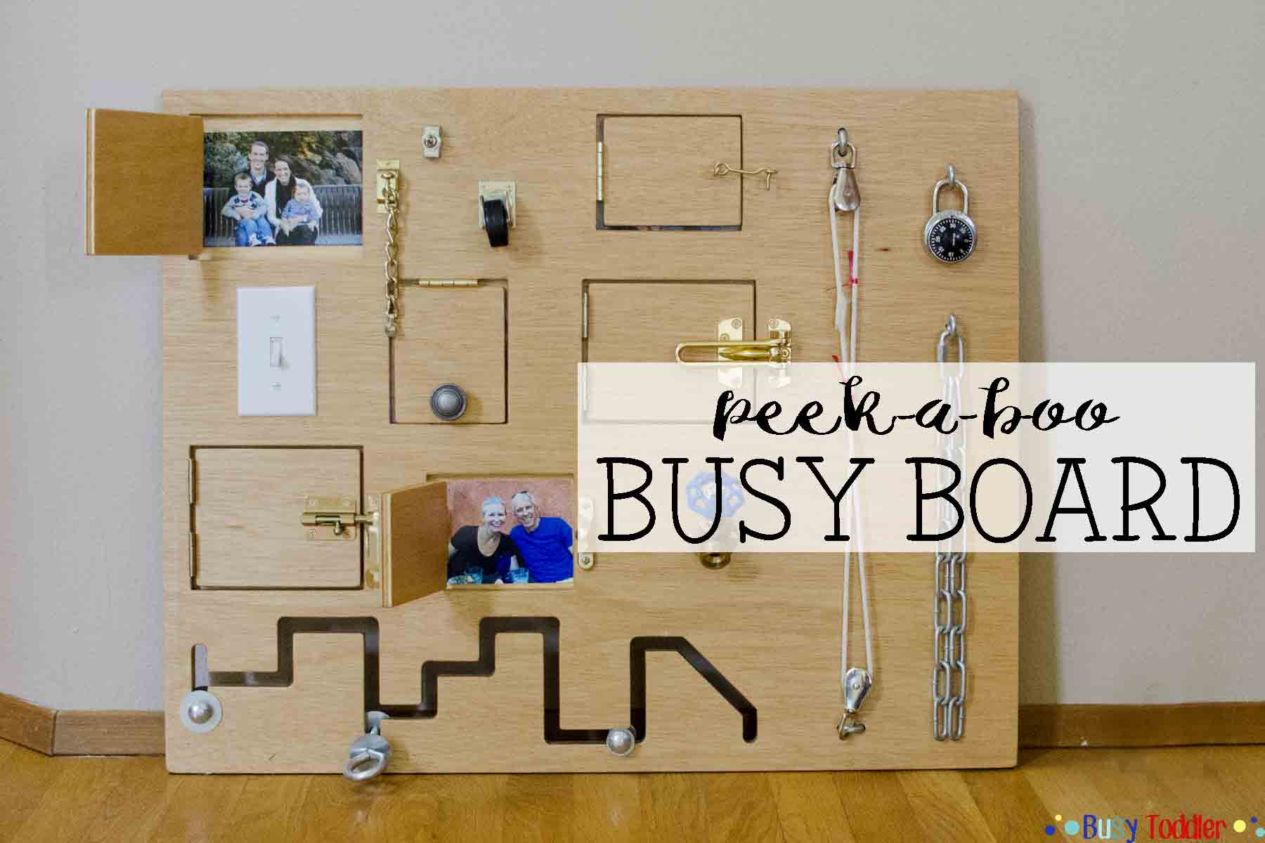 Toddler Busy Board Peek A Boo Edition Busy Toddler