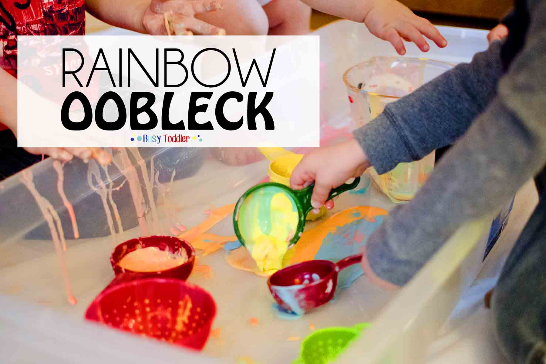 8 awesome and messy play date activities for toddlers.