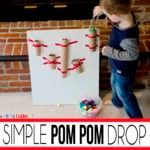 Simple Pom Pom Drop Activity