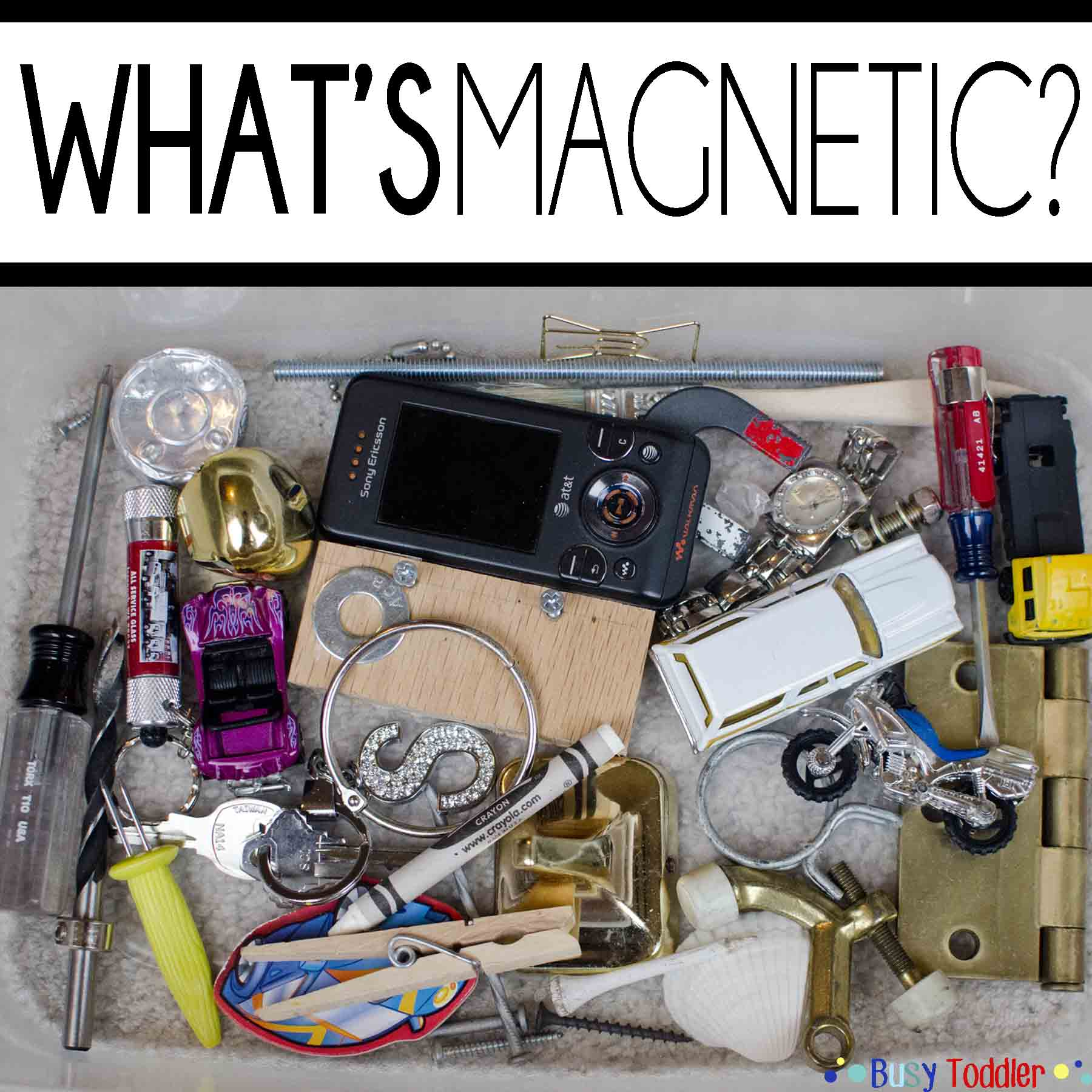 What's Magnetic? A Toddler Science Activity