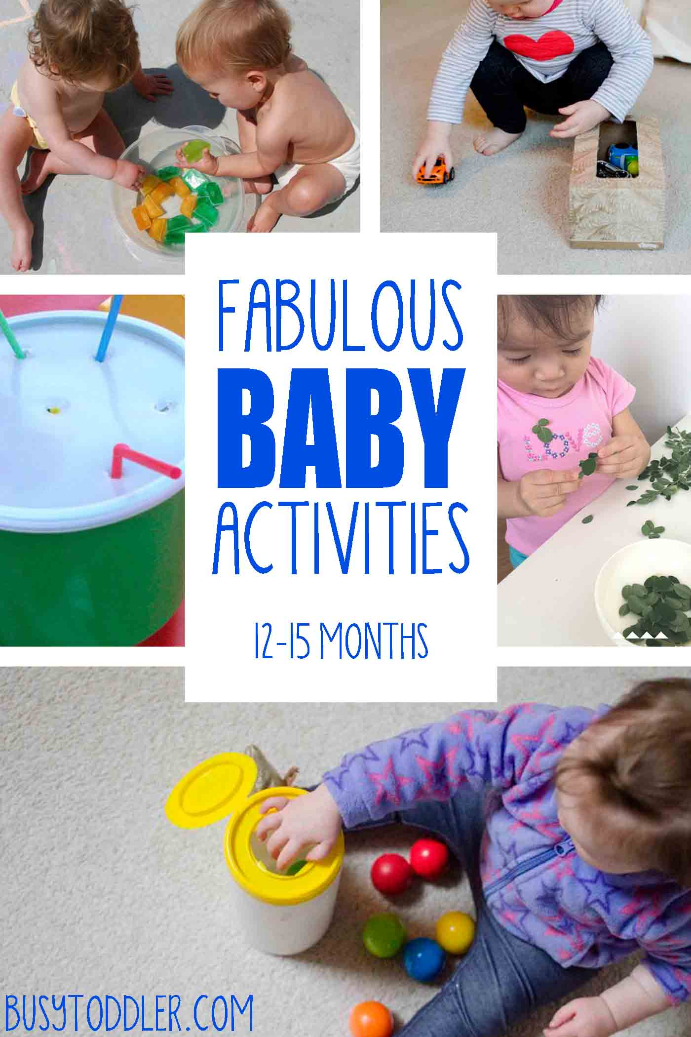 20 Fun & Easy Baby Activities Busy Toddler
