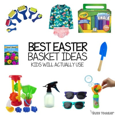 BEST EASTER BASKET IDEAS FOR TODDLERS: A list of outdoor toys for toddlers to receive at Easter; a usable Easter basket idea for kids