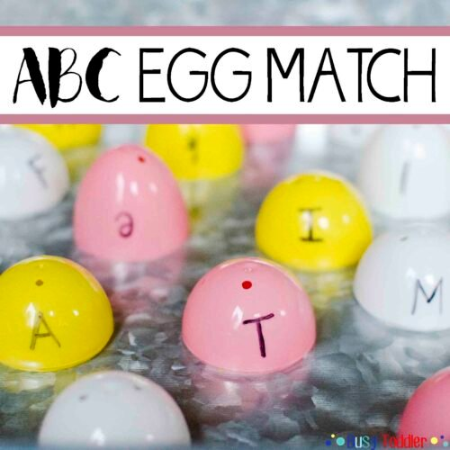 ABC Egg Match: An Easter literacy activity that's perfect for toddlers and preschoolers learning their alphabet