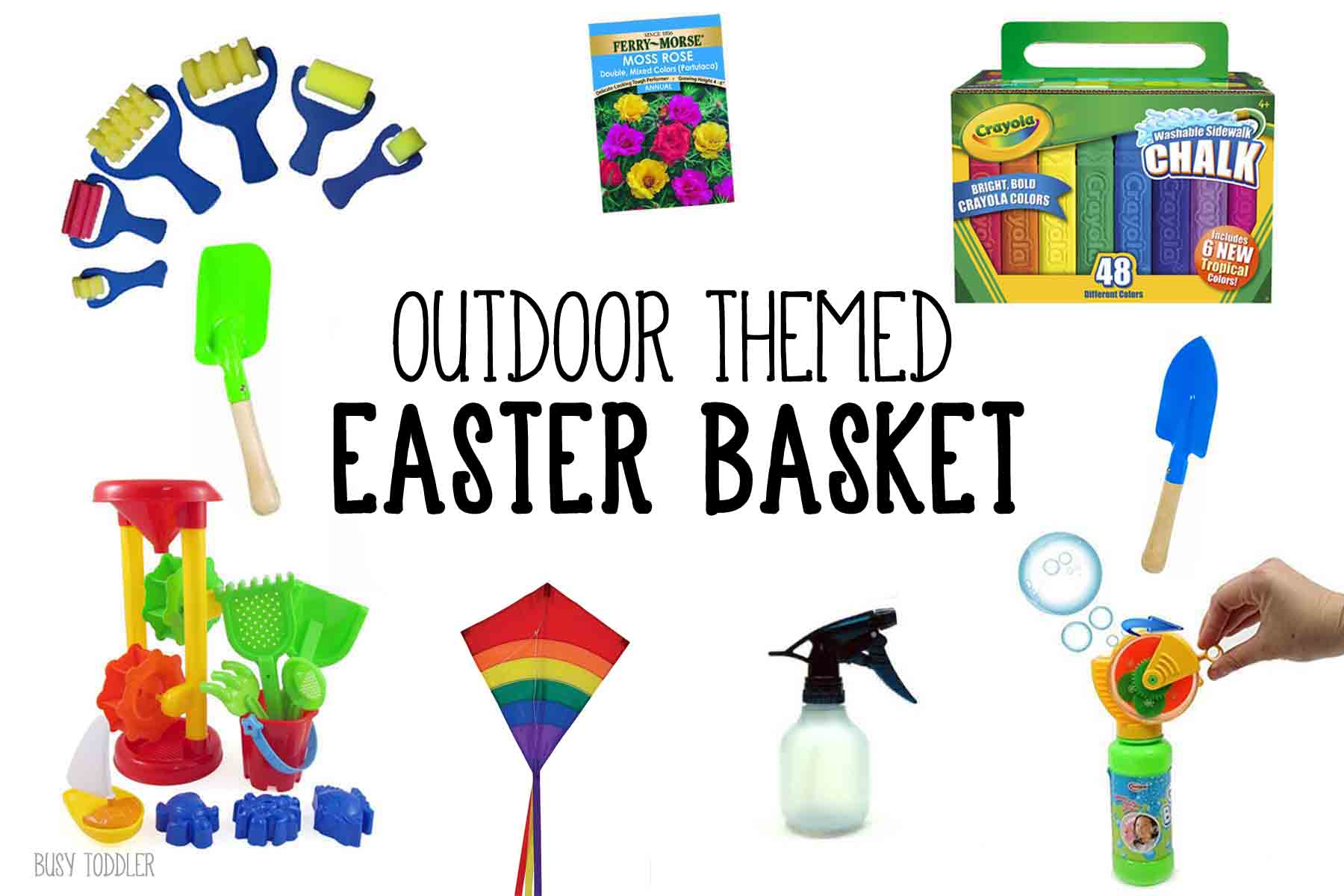 super easy outdoor themed easter basket that toddlers and preschoolers will love!