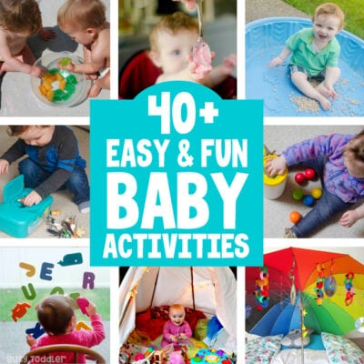 BEST BABY ACTIVITIES: Here are the 40+ best baby activities from Busy Toddler