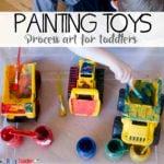 Painting Toys: Toddler Process Art