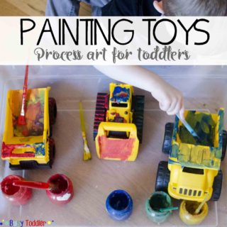 Painting Toys: Toddler Process Art