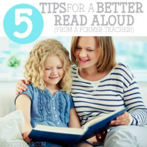 READING ALOUD TO KIDS: 5 awesome tips for an even better read aloud time with your kids. Ideas for building comprehension skills, too. Great tips for toddlers, preschoolers, and elementary aged learners.