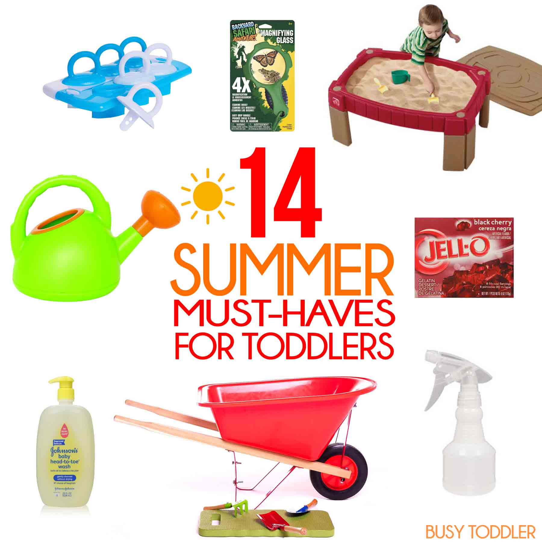 SUMMER MUST-HAVES FOR TODDLERS: A great list of 14 fun items to keep your toddler busy this summer