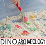 Dinosaur Archaeology: Cloud Dough Sensory