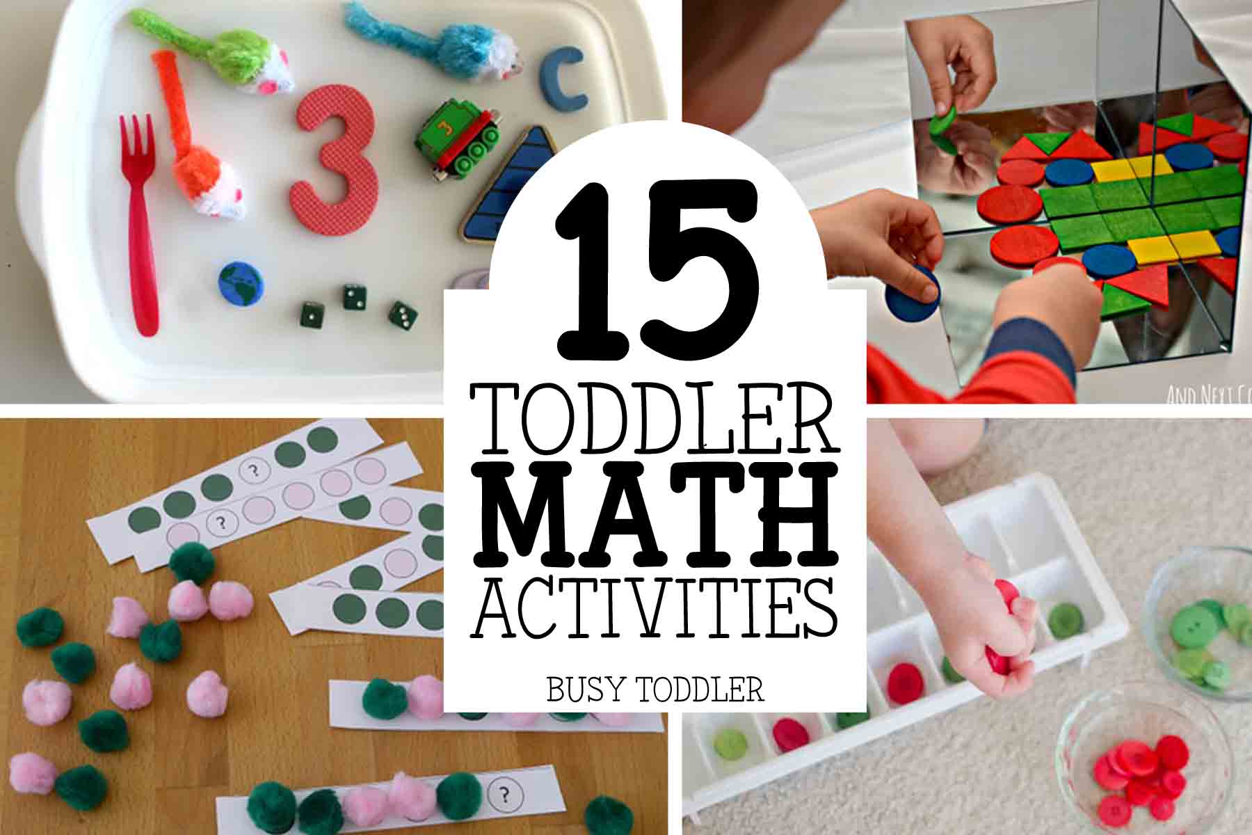 TODDLER MATH ACTIVITIES: 15 easy toddler math activities perfect for introducing concepts; toddler and preschool math