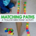 Matching Paths: Easy Math Activity