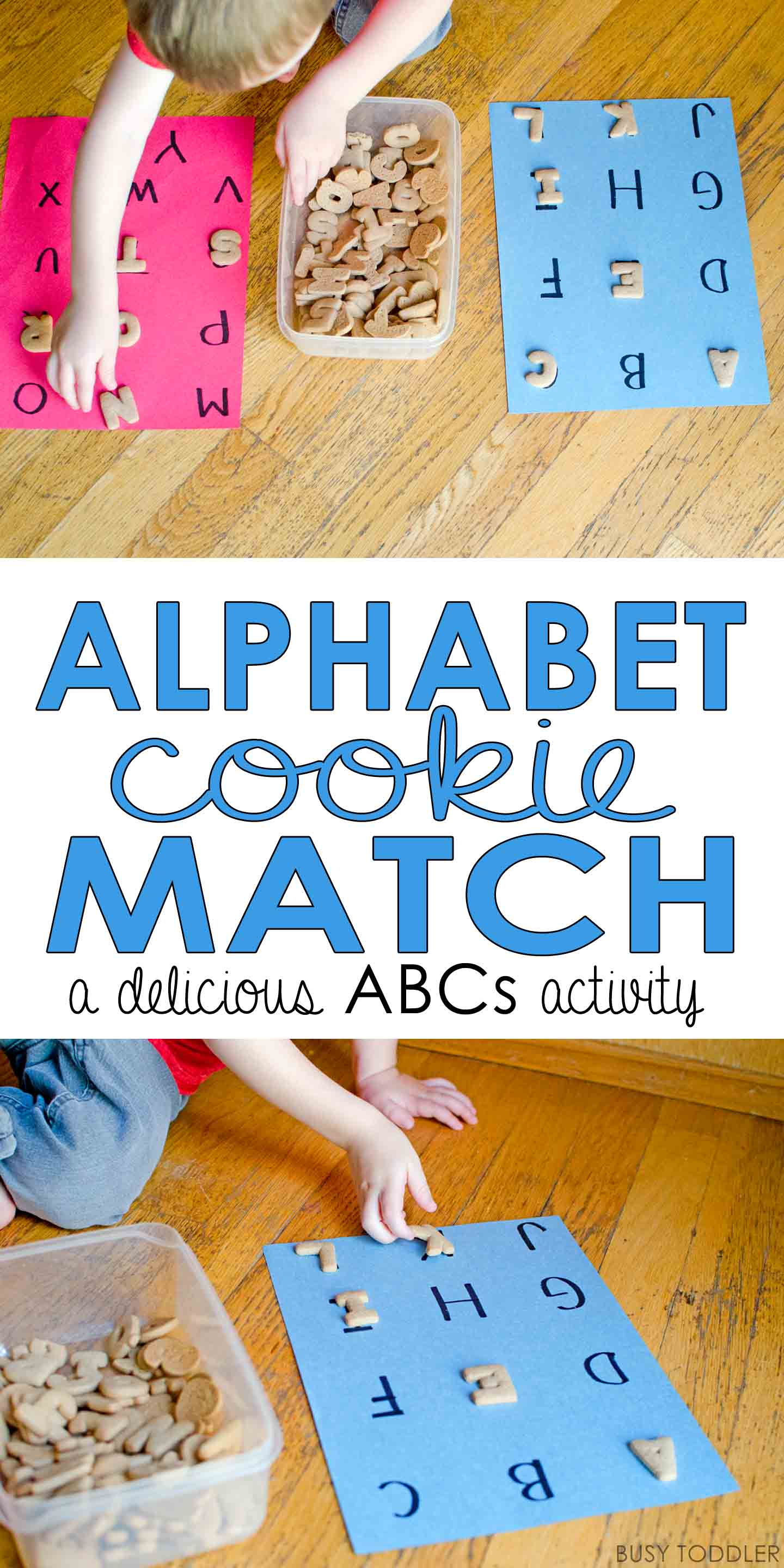 Alphabet Cookie Match Game - Busy Toddler