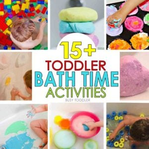 TODDLER BATH TIME: Spice up bath time and make it fun again with these 15 awesome ideas; toddler bath activities; preschool bath activities