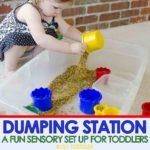 Dumping Station Sensory Bin