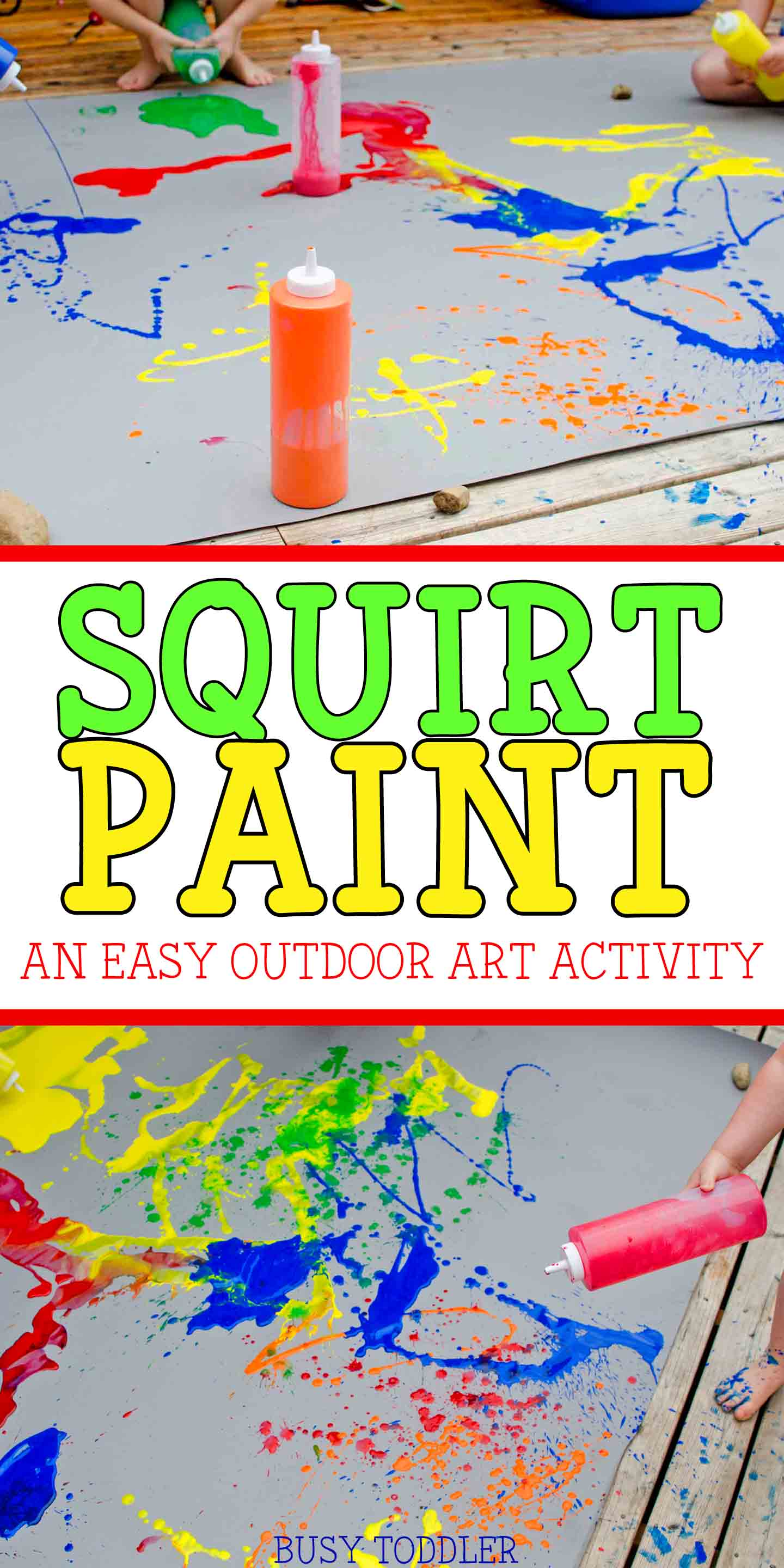 Squirt Paint Process Art - Busy Toddler