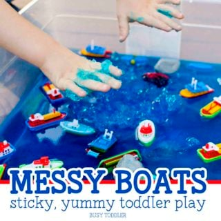 Messy Boats: Sticky, Yummy Toddler Play