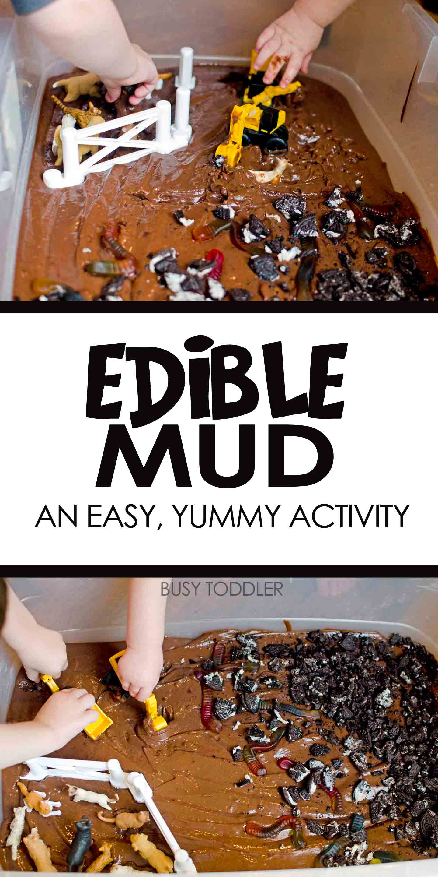 Edible Mud Sensory Play Busy Toddler