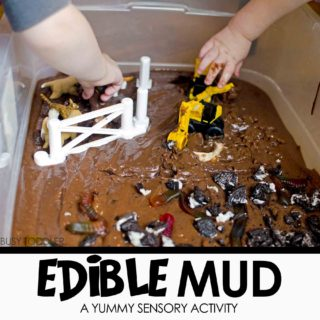 Edible Mud Sensory Play
