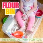 Flour Bin: an easy toddler activity