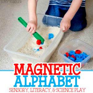 Magnetic Alphabet Sensory Bin