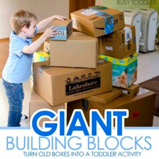 Giant Building Blocks: Toddler STEM Activity