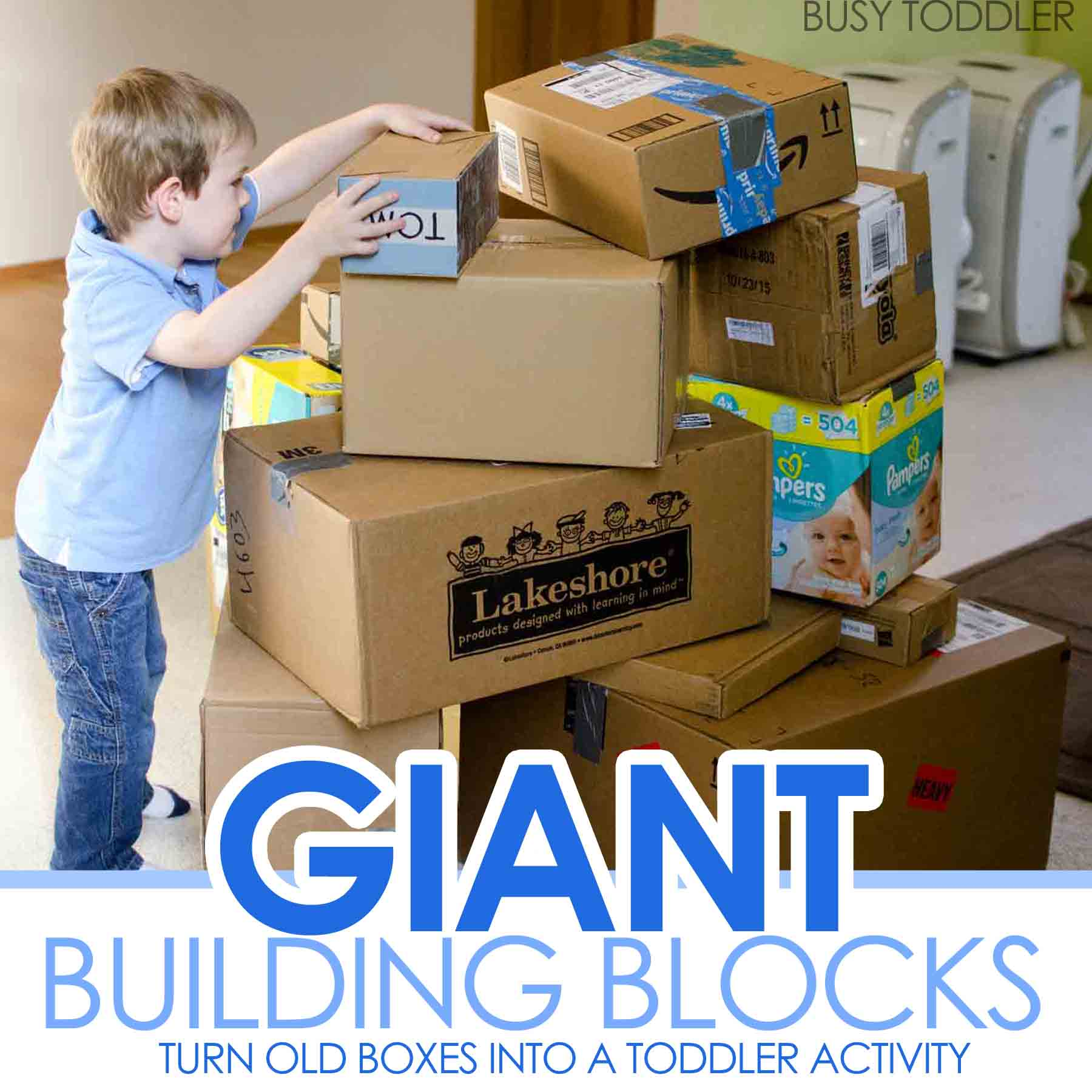 Giant Building Blocks Toddler STEM Activity Busy Toddler