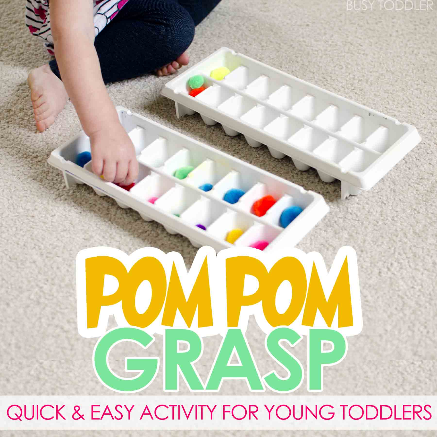 Pom Pom Grasp: Early Learning Activity