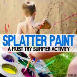 Splatter Paint Process Art