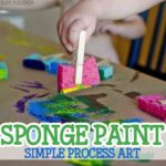 Sponge Painting Process Art