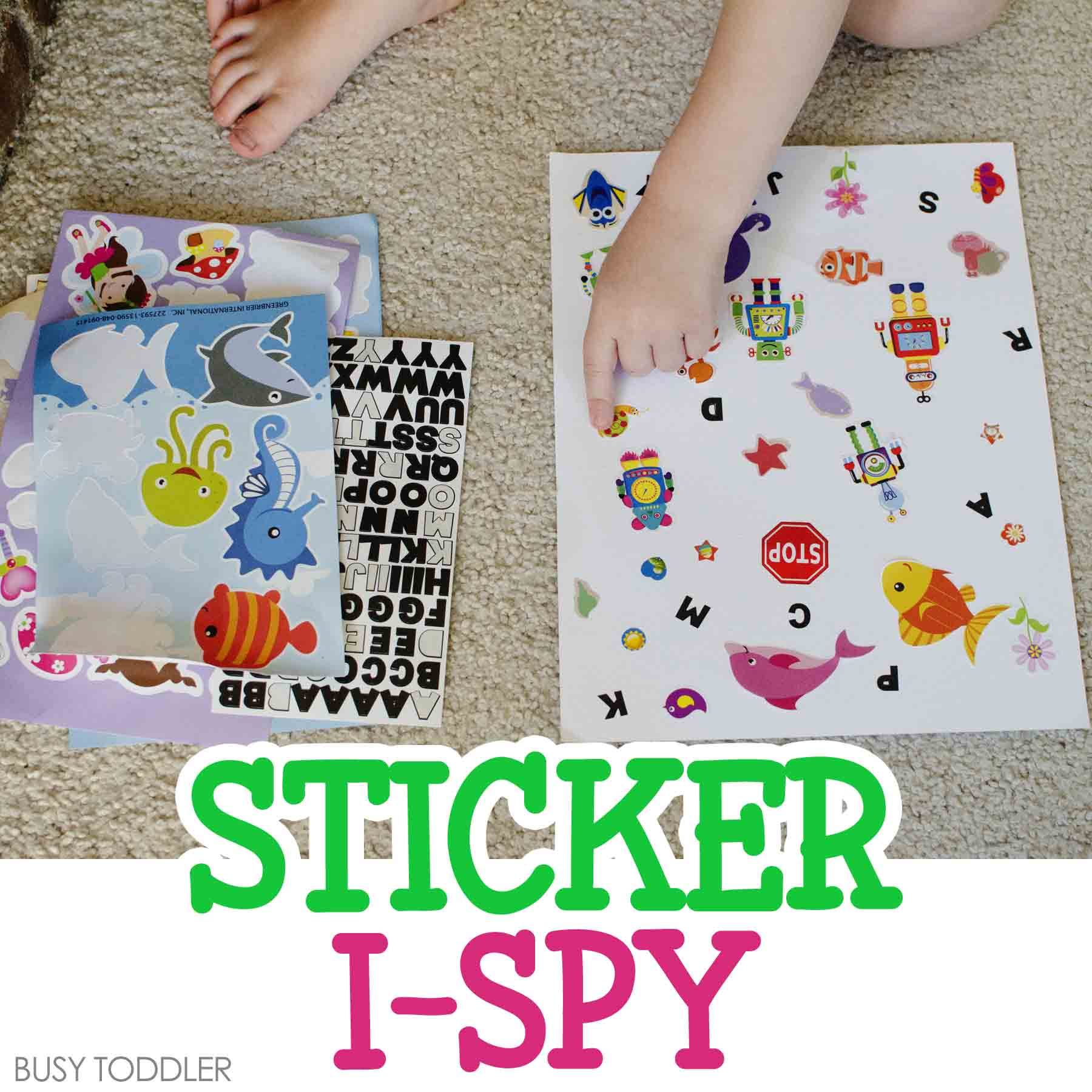 Sticker I Spy Busy Toddler