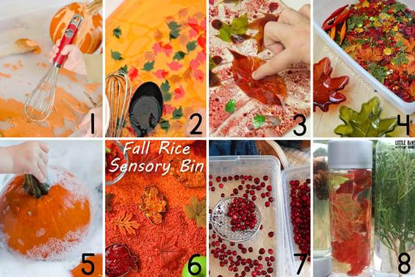 Fall sensory activities