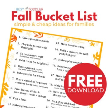 Fall Bucket List for Toddlers and Preschoolers