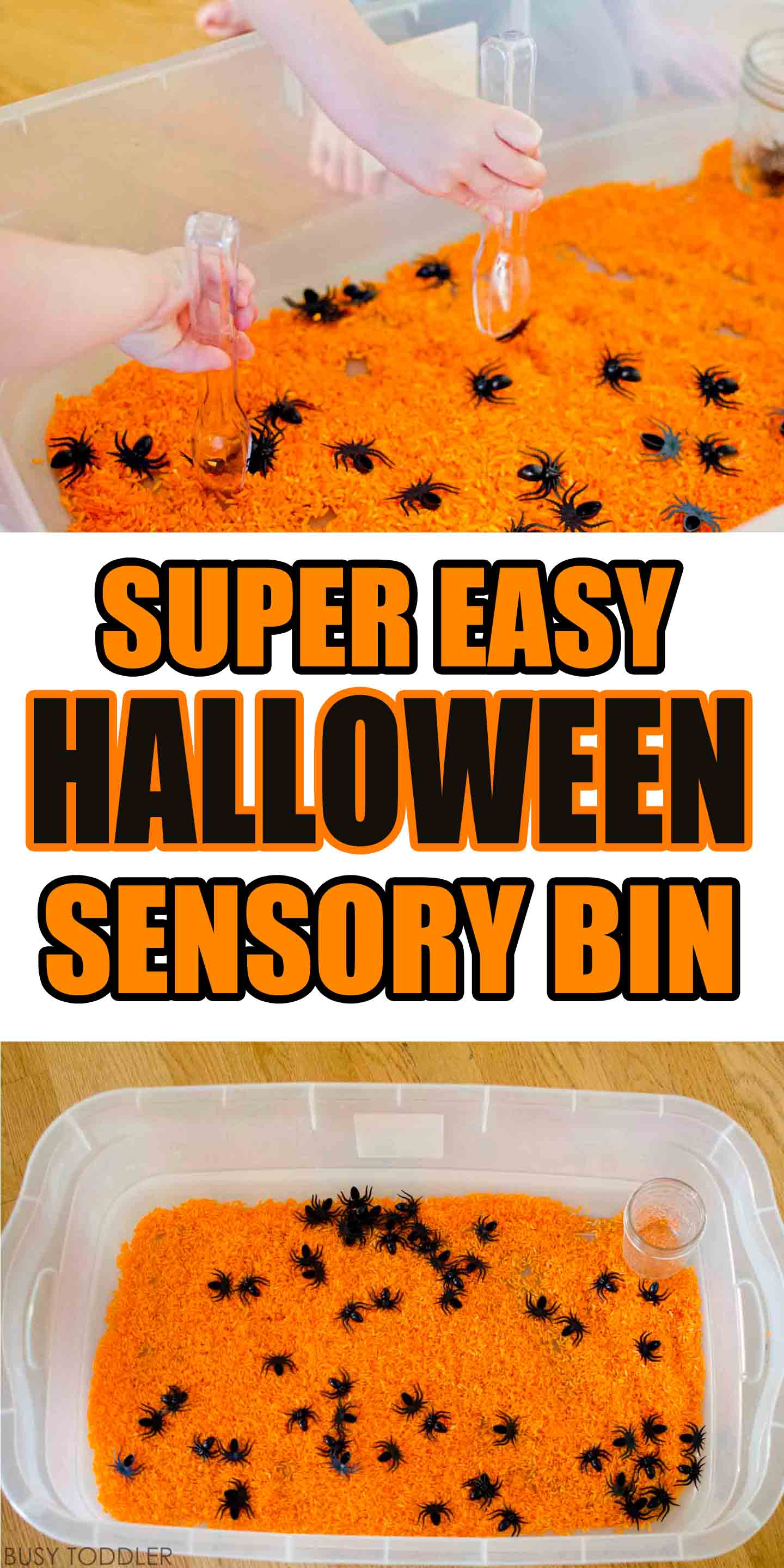 Simple Halloween Sensory Bin - Busy Toddler