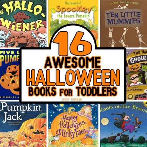What a great list of Halloween Books for Toddlers! Check out these 16 awesome titles that are perfect for toddlers this spooky season.