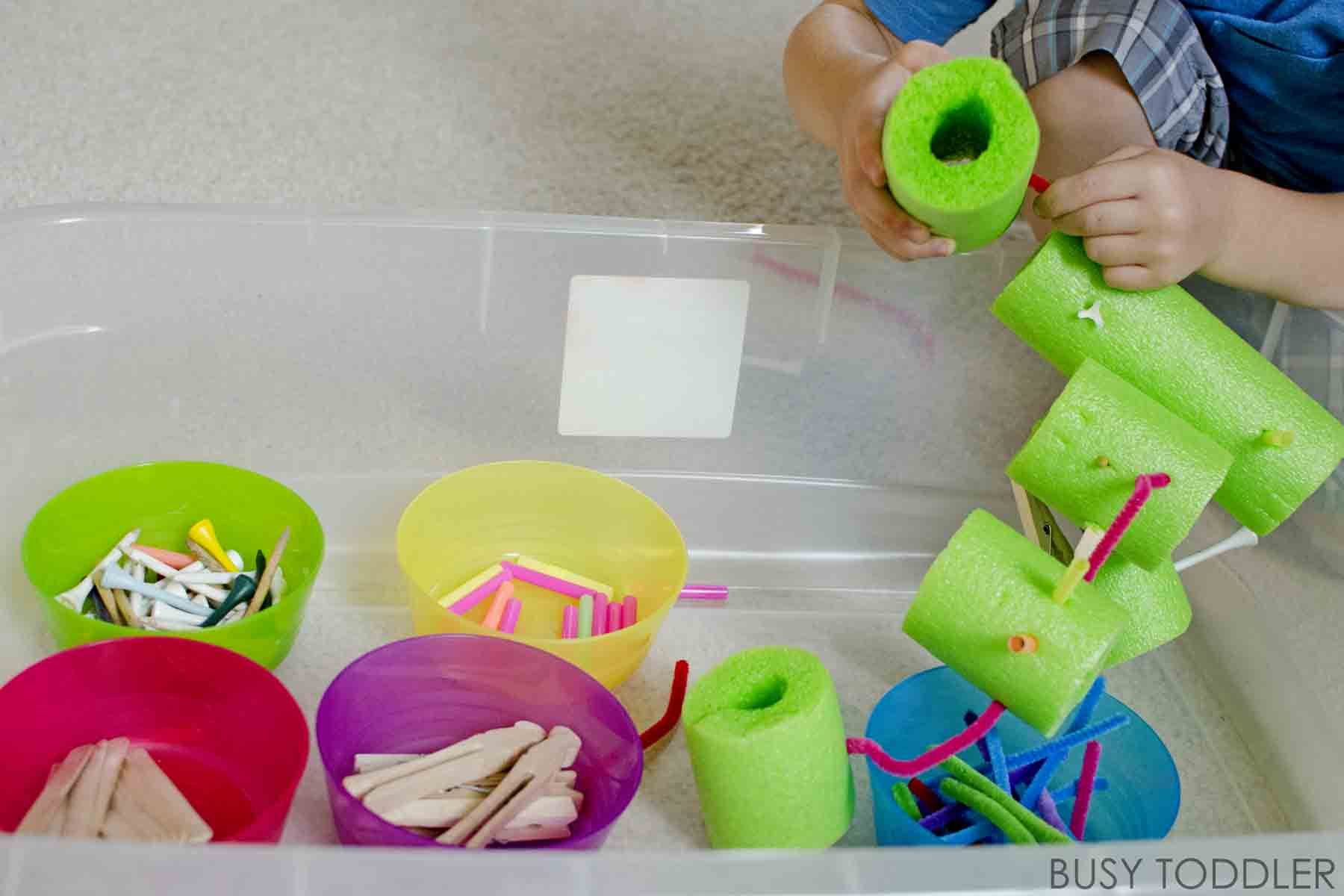 Poking Bin Fine Motor Skills Fun Busy Toddler