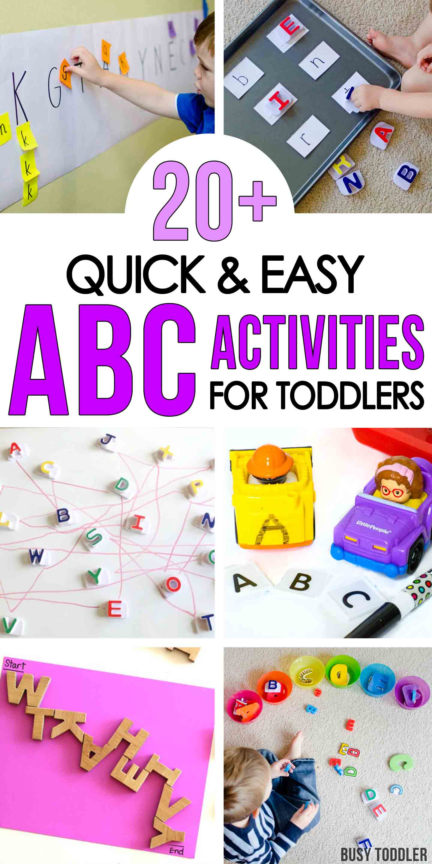 50+ Alphabet Activities for Toddlers - Busy Toddler