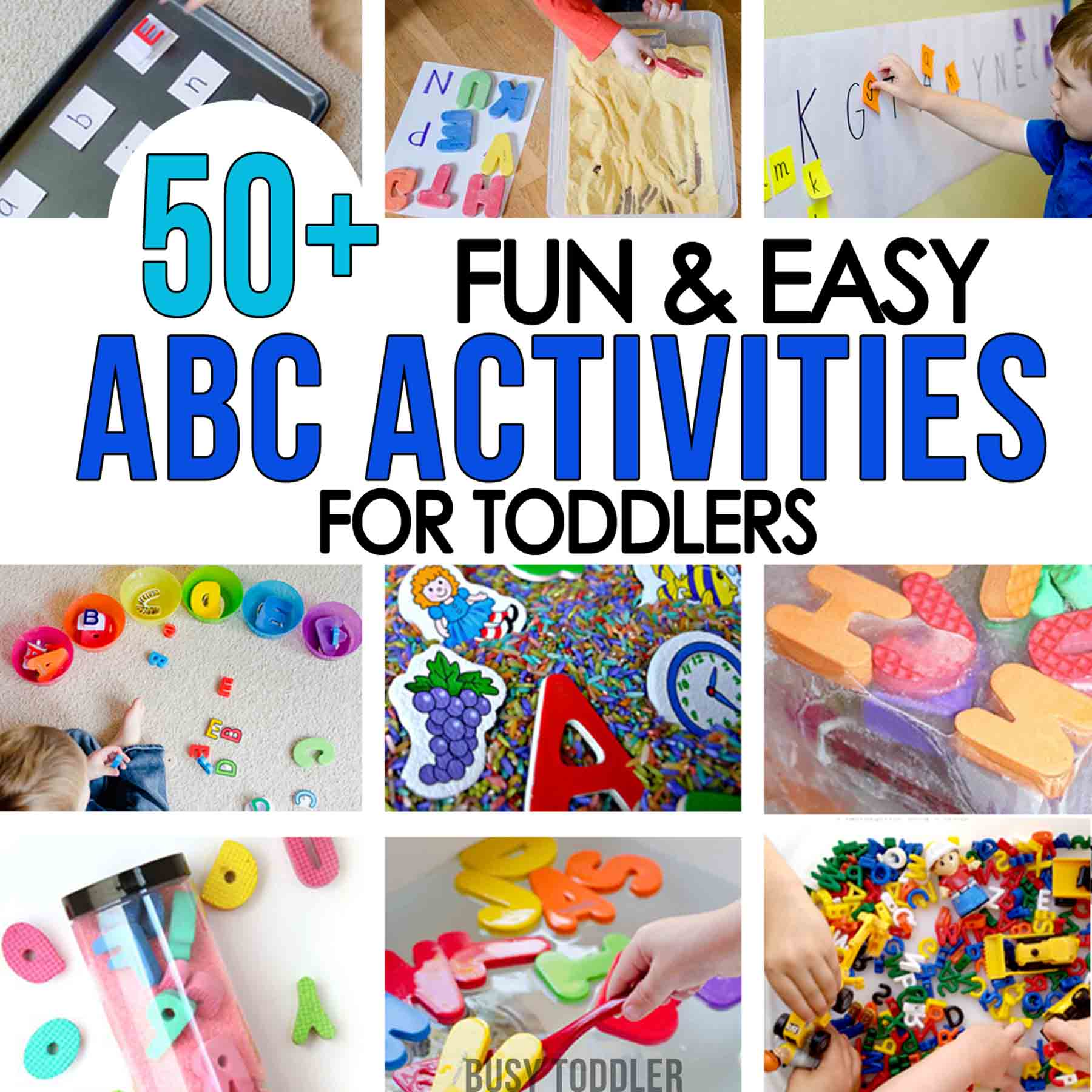 50+ Alphabet Activities for Toddlers