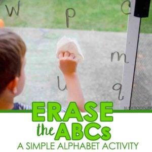 Erase the ABCs: Easy Alphabet Activity