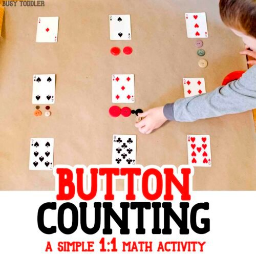 PLAY CARDS MATH ACTIVITY - Such a fun and easy way to teach number quantity to toddlers and preschoolers; a great number sense math activity; simple math lesson with playing cards