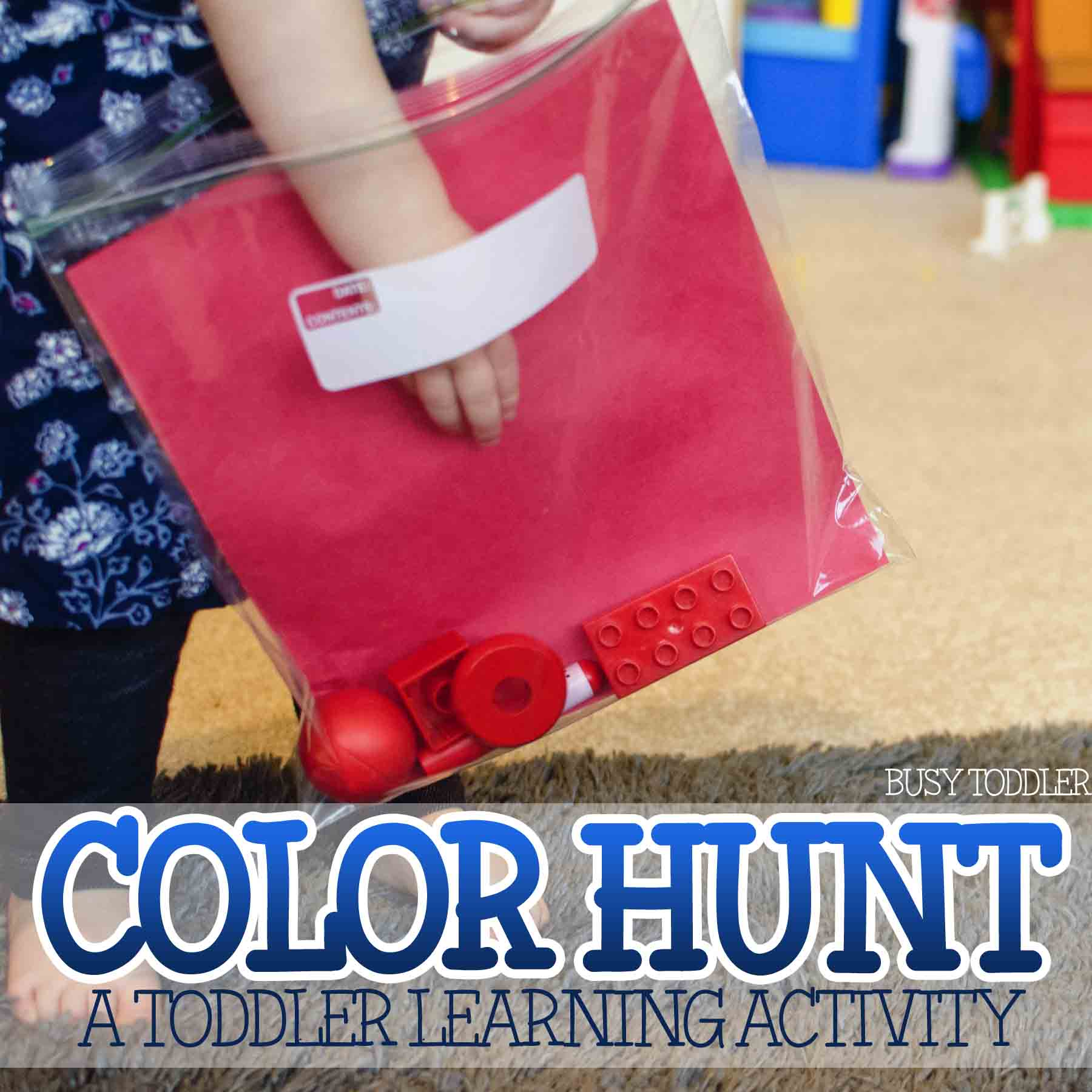 LEARNING COLORS: Teaching your toddler their colors? Check out this simple color identification activity. Quick and easy learning activity for toddlers.
