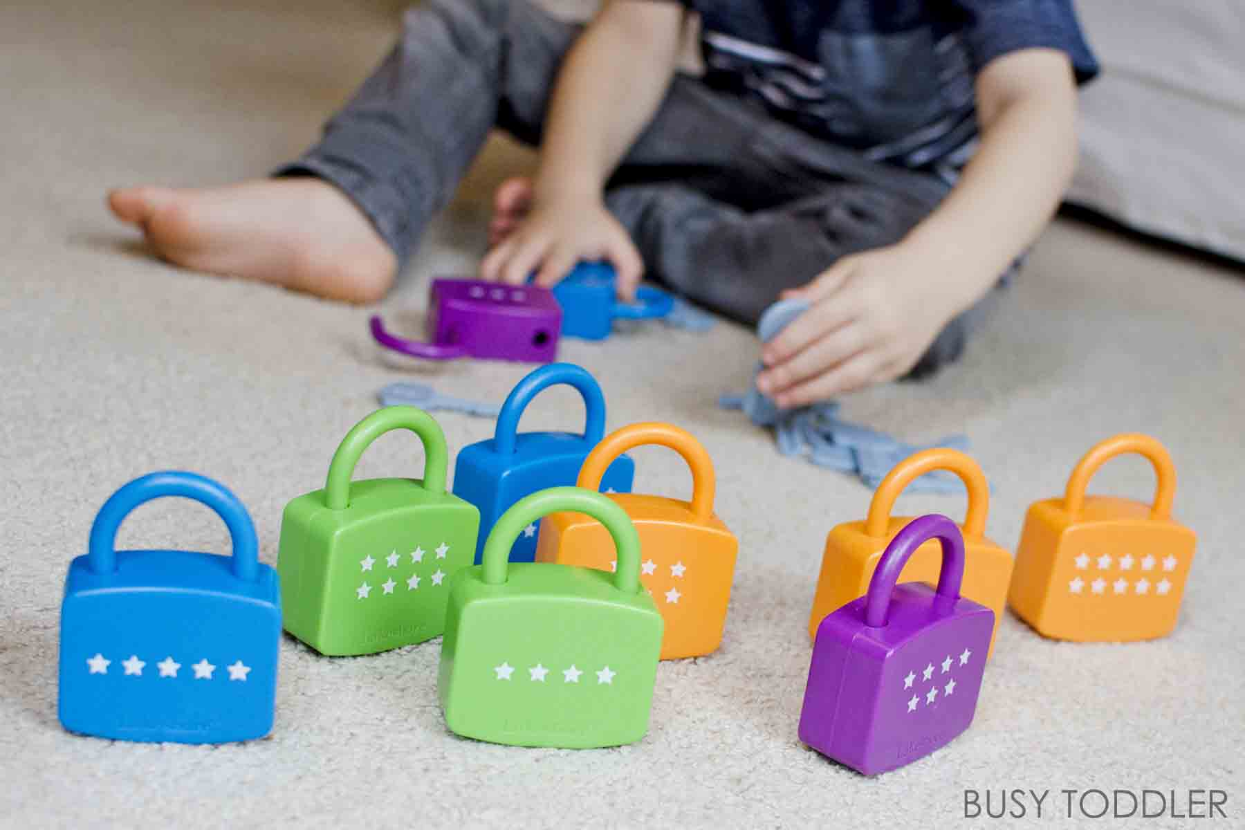 TOYS THAT TEACH: Check out these three awesome toys to learn with! Playing with numbers is a great way to interact with math. Perfect toys for preschoolers from Lakeshore Learning. #ad