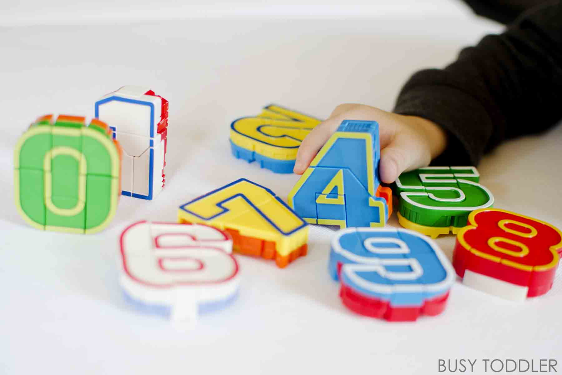 Playing with Numbers Toys that Teach Busy Toddler