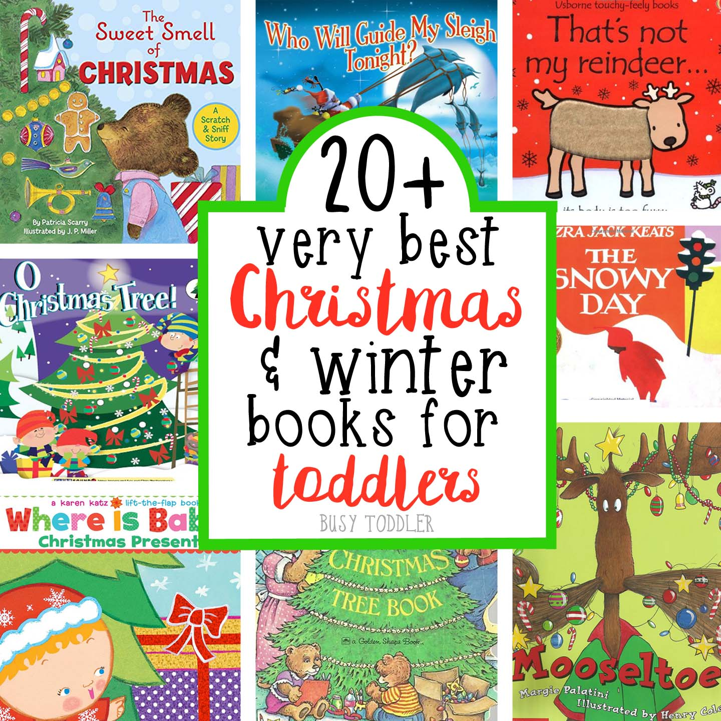 Christmas Books For Kids.Best Christmas Books For Toddlers Busy Toddler
