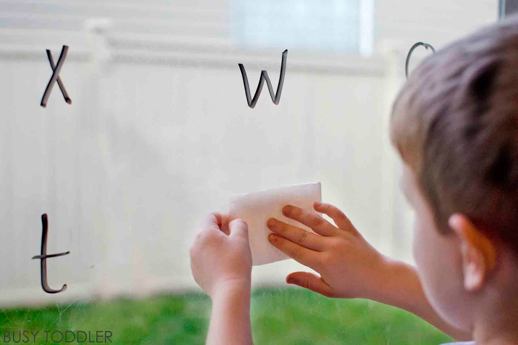 ERASE THE ALPHABET: A fun and simple alphabet activity that toddlers and preschoolers will love; quick and easy toddler activity; preschool alphabet activity; homeschool activity, easy alphabet activity